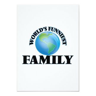 World's Funniest Family 5x7 Paper Invitation Card