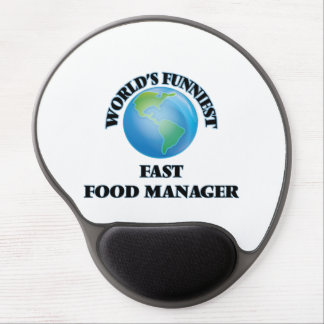 World's Funniest Fast Food Manager Gel Mouse Mat