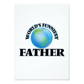 World's Funniest Father 5x7 Paper Invitation Card