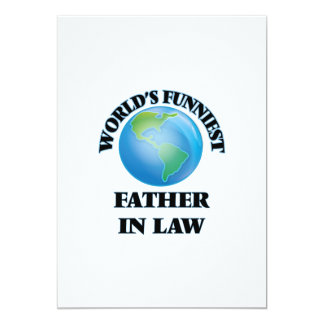 World's Funniest Father-in-Law 5x7 Paper Invitation Card