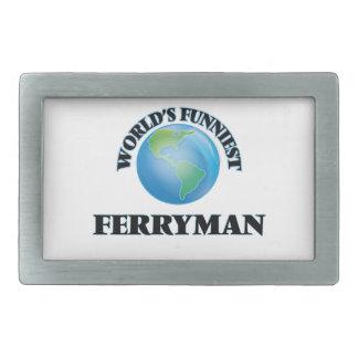 World's Funniest Ferryman Belt Buckle