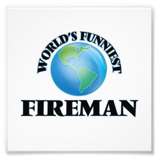 World's Funniest Fireman Photo Art