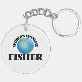 World's Funniest Fisher Double-Sided Round Acrylic Keychain