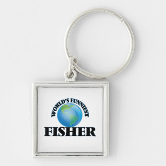 World's Funniest Fisher Key Chain