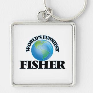 World's Funniest Fisher Keychain