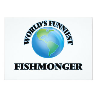 World's Funniest Fishmonger 5x7 Paper Invitation Card
