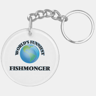 World's Funniest Fishmonger Double-Sided Round Acrylic Keychain