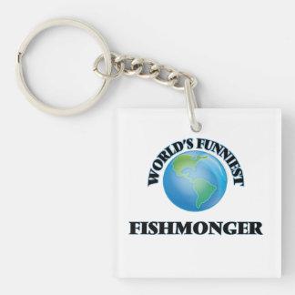 World's Funniest Fishmonger Single-Sided Square Acrylic Keychain