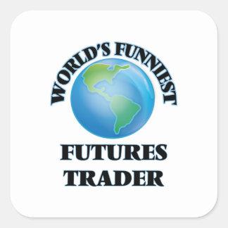 World's Funniest Futures Trader Square Sticker