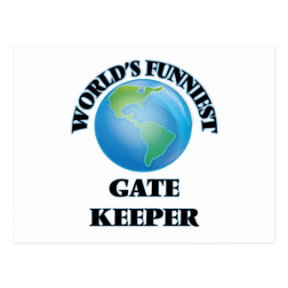 World's Funniest Gate Keeper Postcard