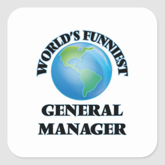 World's Funniest General Manager Square Sticker
