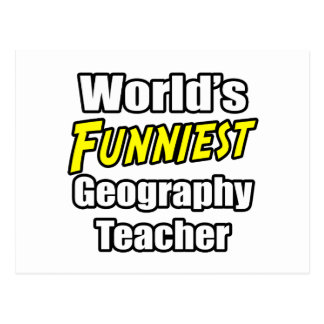 World's Funniest Geography Teacher Postcard