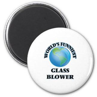 World's Funniest Glass Blower Fridge Magnet
