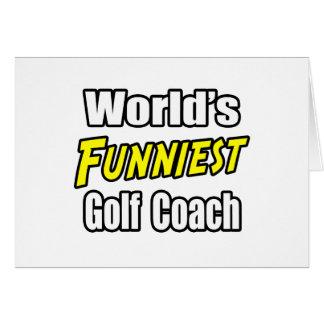 World's Funniest Golf Coach Card
