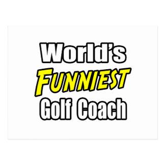 World's Funniest Golf Coach Postcard