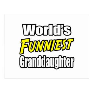 World's Funniest Granddaughter Postcard