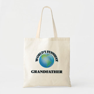 World's Funniest Grandfather Budget Tote Bag