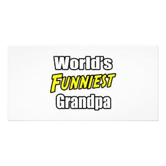 World's Funniest Grandpa Personalized Photo Card
