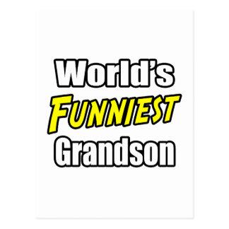 World's Funniest Grandson Postcard