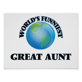 World's Funniest Great Aunt Poster