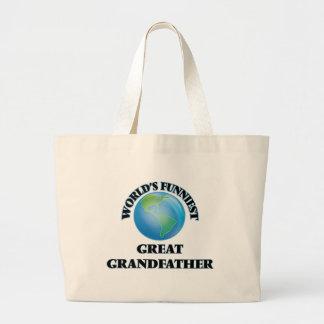 World's Funniest Great Grandfather Jumbo Tote Bag