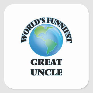 World's Funniest Great Uncle Square Sticker
