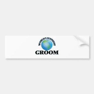 World's Funniest Groom Car Bumper Sticker