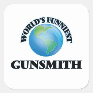 World's Funniest Gunsmith Square Sticker