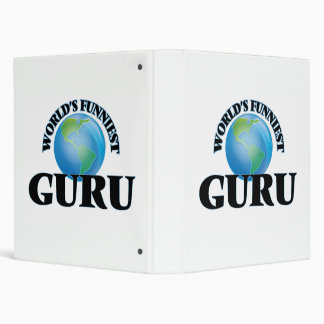 World's Funniest Guru Vinyl Binder