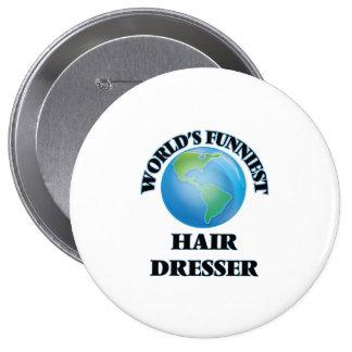 World's Funniest Hair Dresser Button