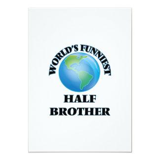 World's Funniest Half-Brother 5x7 Paper Invitation Card