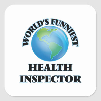 World's Funniest Health Inspector Square Sticker