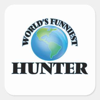 World's Funniest Hunter Square Sticker