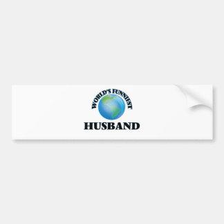 World's Funniest Husband Car Bumper Sticker