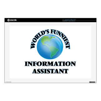 """World's Funniest Information Assistant Decals For 17"""" Laptops"""