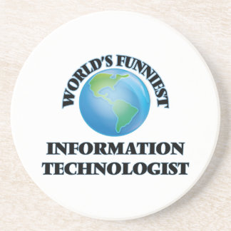 World's Funniest Information Technologist Drink Coasters