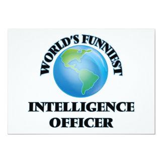 World's Funniest Intelligence Officer 5x7 Paper Invitation Card