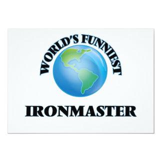 World's Funniest Ironmaster 5x7 Paper Invitation Card