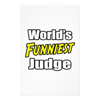 World's Funniest Judge Personalized Stationery