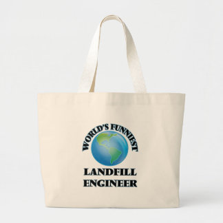 World's Funniest Landfill Engineer Canvas Bag