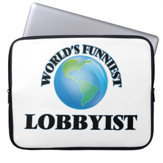 World's Funniest Lobbyist Computer Sleeve