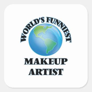 World's Funniest Makeup Artist Square Sticker