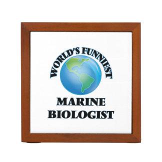 World's Funniest Marine Biologist Pencil/Pen Holder