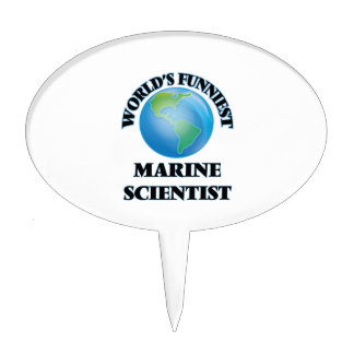 World's Funniest Marine Scientist Cake Toppers