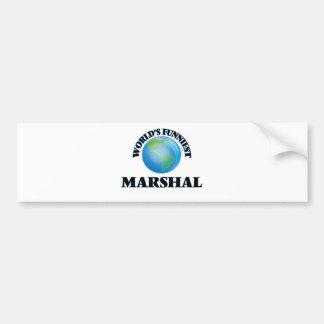 World's Funniest Marshal Bumper Sticker