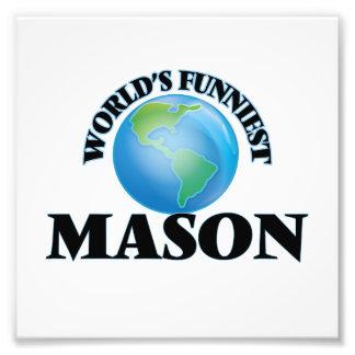 World's Funniest Mason Photo Print