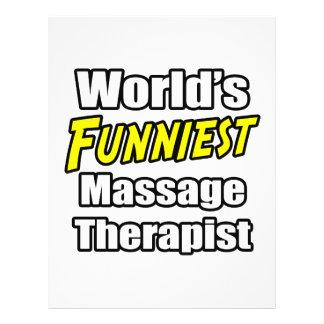 World's Funniest Massage Therapist Flyer