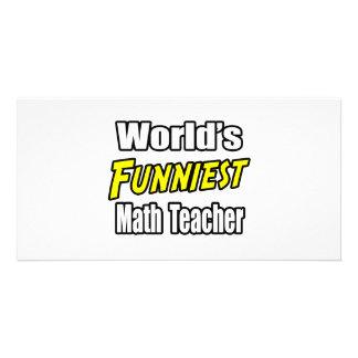 World's Funniest Math Teacher Card