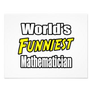 World's Funniest Mathematician Personalized Invitations