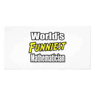 World's Funniest Mathematician Personalized Photo Card